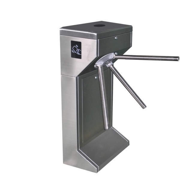 RFID Ticketing System Vertical Automatic Stainless Steel Tripod Turnstile for Tourist