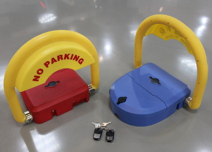 Smart Self repositioning 180 degree parking reservation lock anti collision with Motion sensor