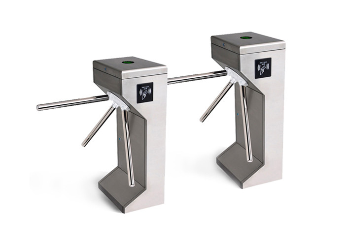 Stainless Steel Tripod Turnstile Gate Automatic RFID LED Indicator Half Height