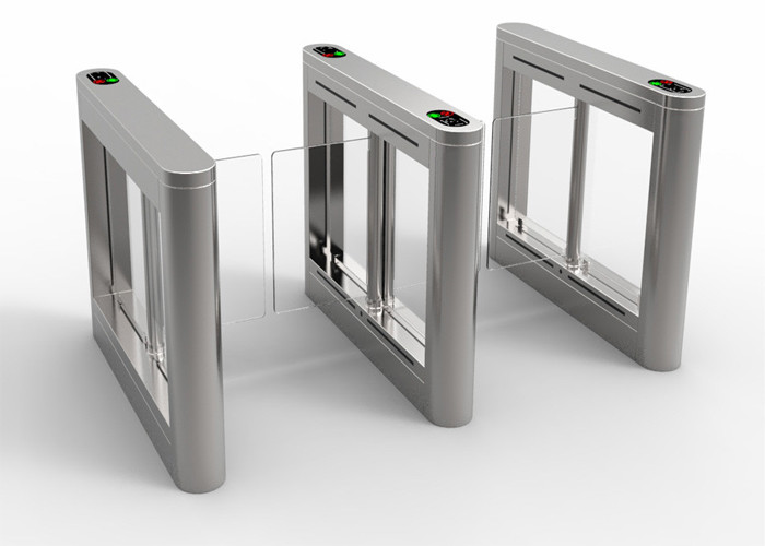 TCP/IP Access Control Pedestrian Barrier Gate Fast Opening Speed Noice Free For Metro Station