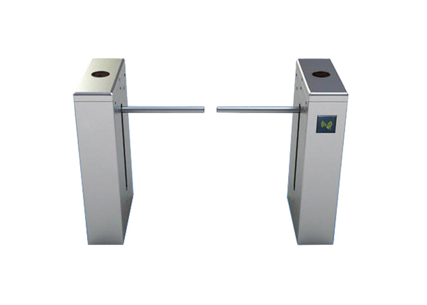 Office Entrance Drop Arm Turnstile SS304 Stainless Steel Half Height With Alarm Function