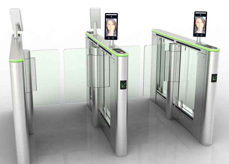 Electrical Pedestrian Swing Gate , IP 54 Swing Barrier Gate Facial Recognition System